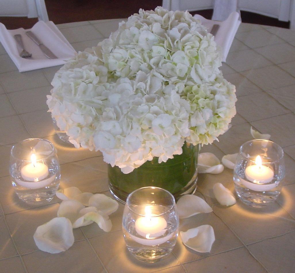 tall hydrangea wedding