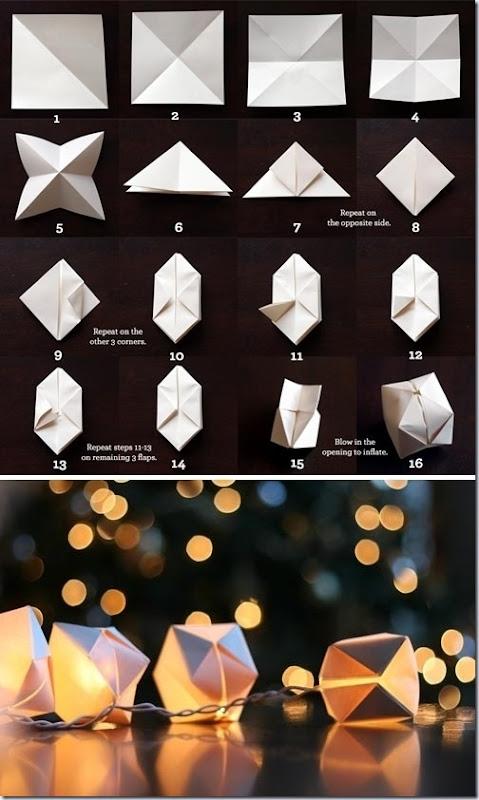 luces navida origami