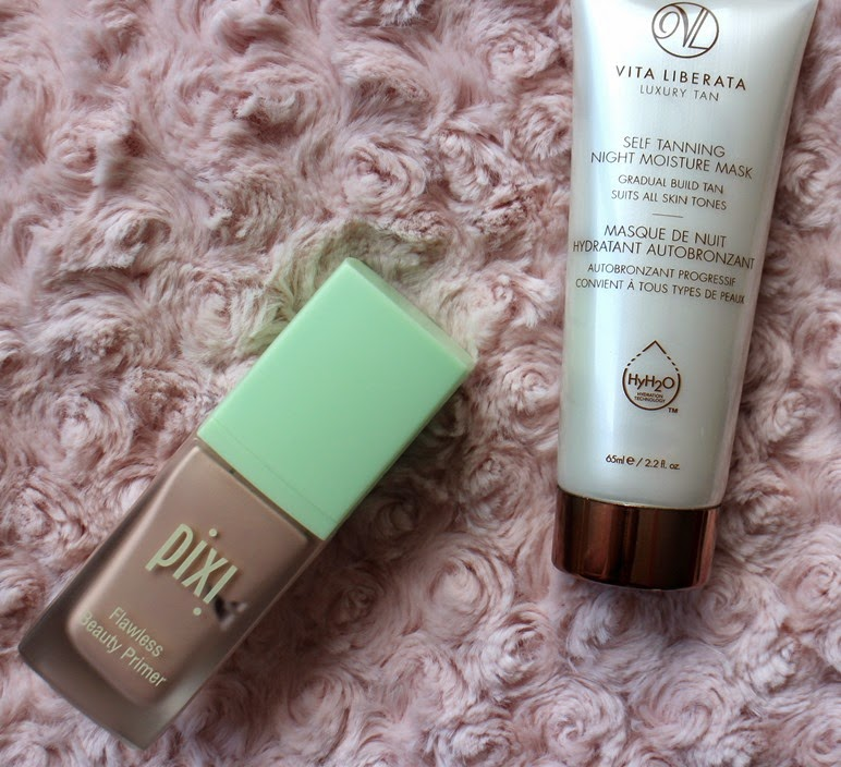 PixiBeauty-Radiance-Primer,Vita-Liberata-Self-Tanning-Night-Moisture-Mask