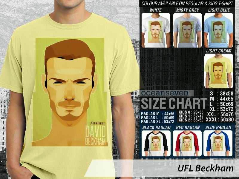 KAOS David Beckham Kartun Bola distro ocean seven