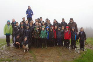 Top of Beacon Fell - honest at the trig point. Obviously the Sun was shining - somewhere!!