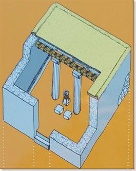 Illeta dels Banyets - Templo B - reconstrucción ideal