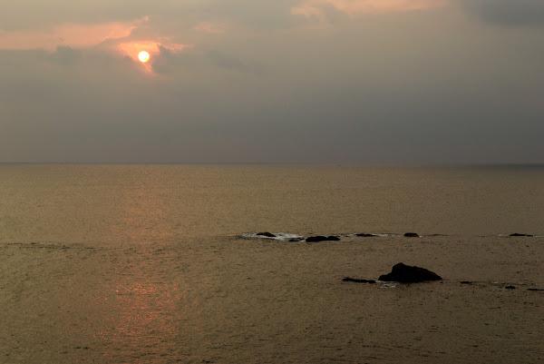 океан, море, закат