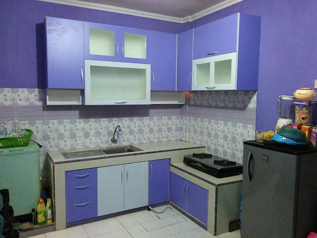 Kitchen set minimalis citeureup furniture kitchen set for Ukuran rak piring kitchen set