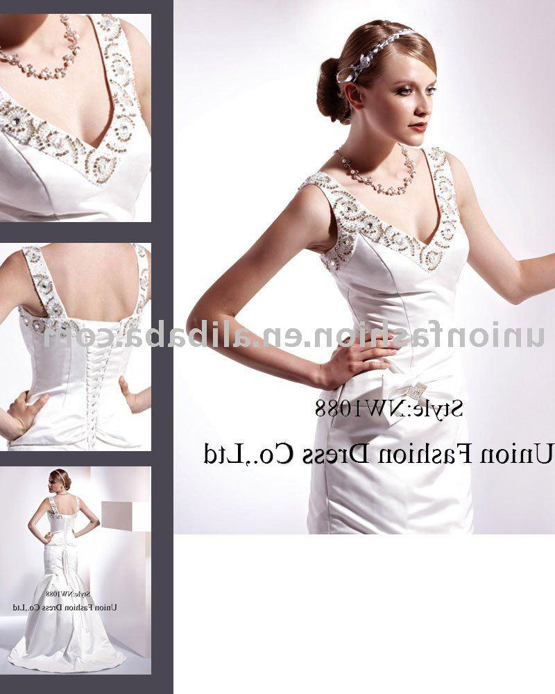 classy satin noble Wedding Dress NW1088