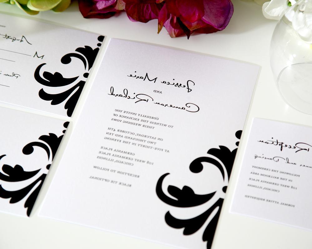 Damask Accent Wedding
