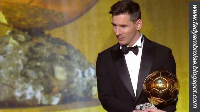 Lionel Messi pour la 5 ème fois Ballon d'Or