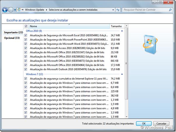 Atualizações do Windows 7 - 14/07/2015