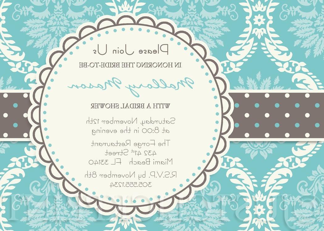 Turquoise Gray Cream Damask