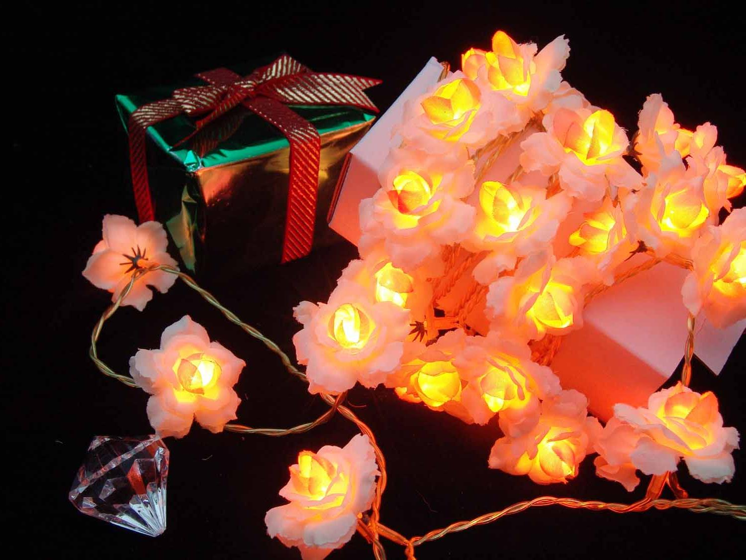 White Plum blossom Christmas home decoration lights,