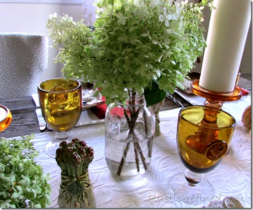 early autumn fall tablescape