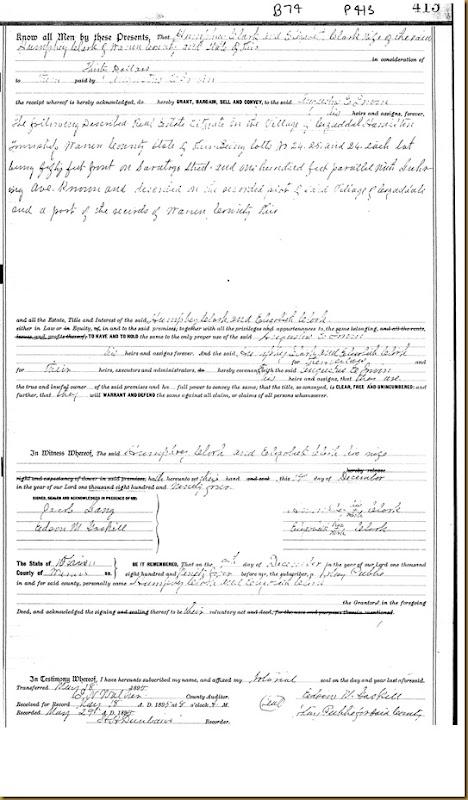 Humphrey  Clark,Elizabeth Clark  Warren Co, Ohio Augustus E Irwin 1894