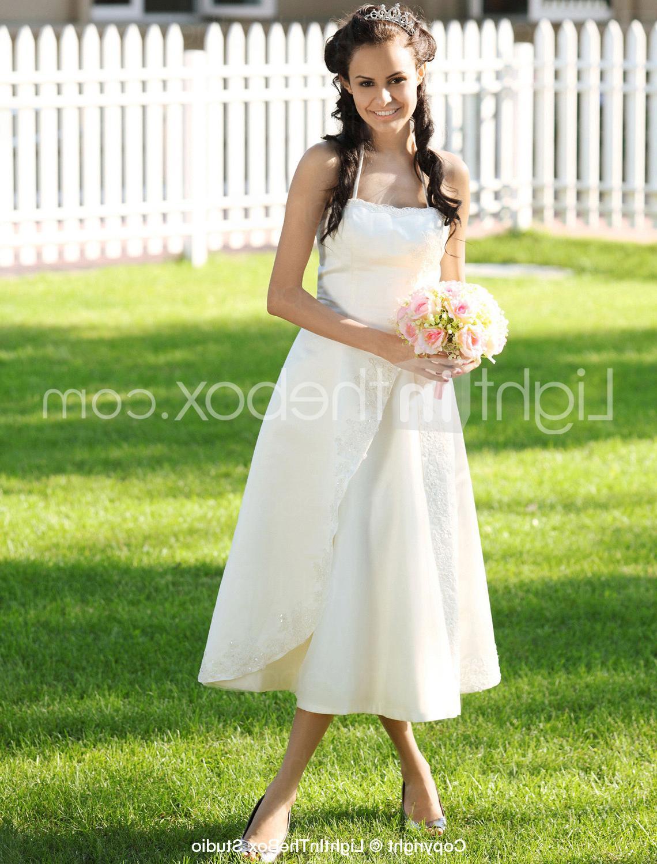 Satin Wedding Dress With