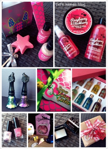 Anna Sui nail polish, molton brown, lush gift box