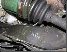 Subie's Cracked Boots!    The CV BOOT cracked, leaking grease.