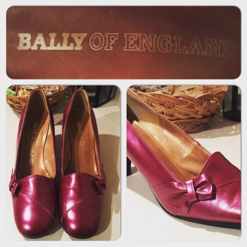 Bally of England vintage fuchsia pumps, shoes, heels