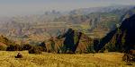 Niektóre widoki w górach Semien przypominaja te z Wielkiego Kanionu