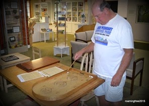 Playing games in the Visitor Center