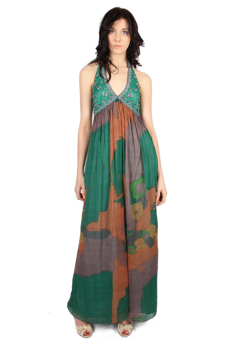 Exotic empire line maxi dress