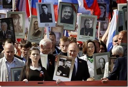 Putin - Desfile Familiares 70 aniversario