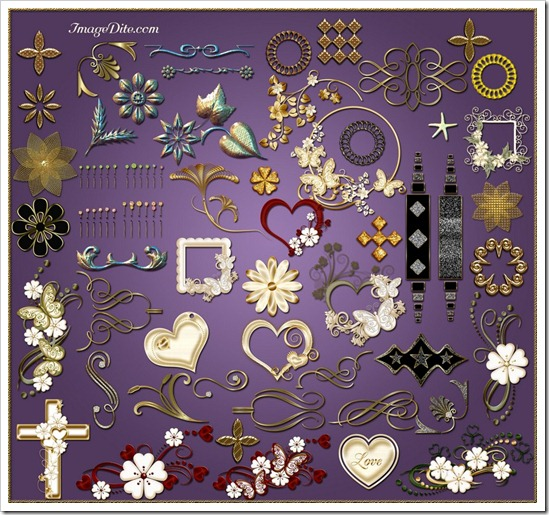 Clipart elements for decoration