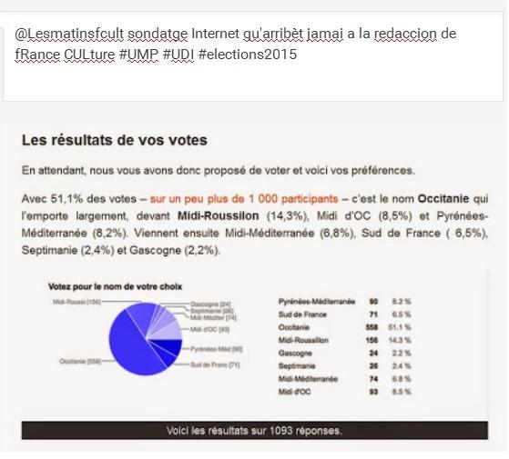 sondatge Internet qu'arribèt jamai a la redaccion de fRance CULture 2