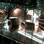 helmets at Dutch National Military Museum Soesterberg in Soest, Utrecht, Netherlands