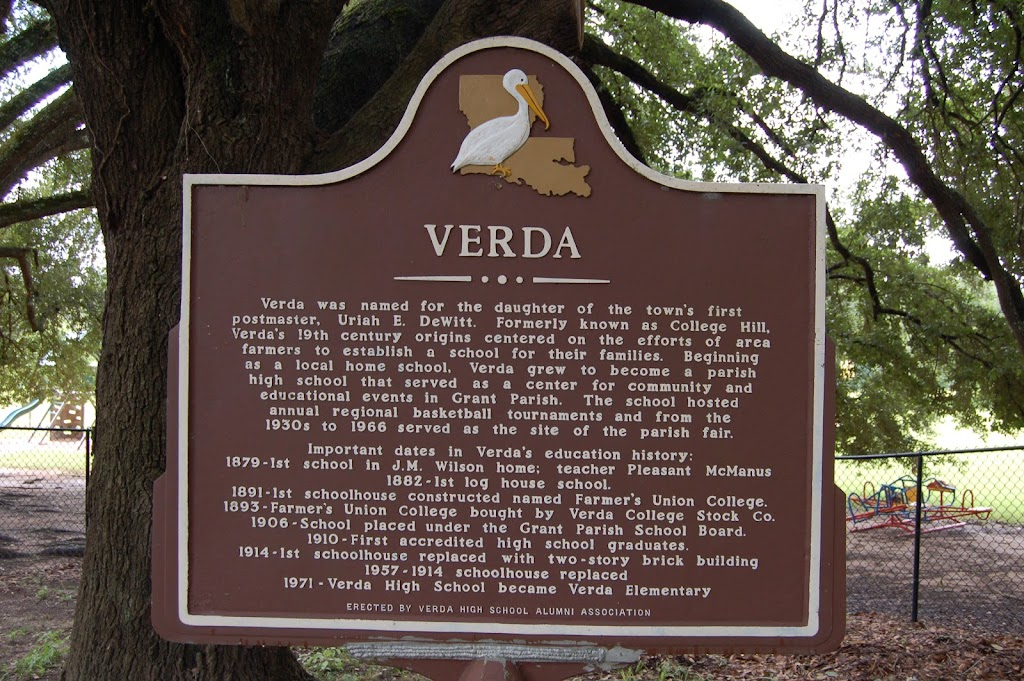 Verda was named for the daughter of the town's first postmaster, Uriah E. DeWitt. Formerly known as College Hill, Verda's 19th century origins centered on the efforts of area farmers to establish a ...