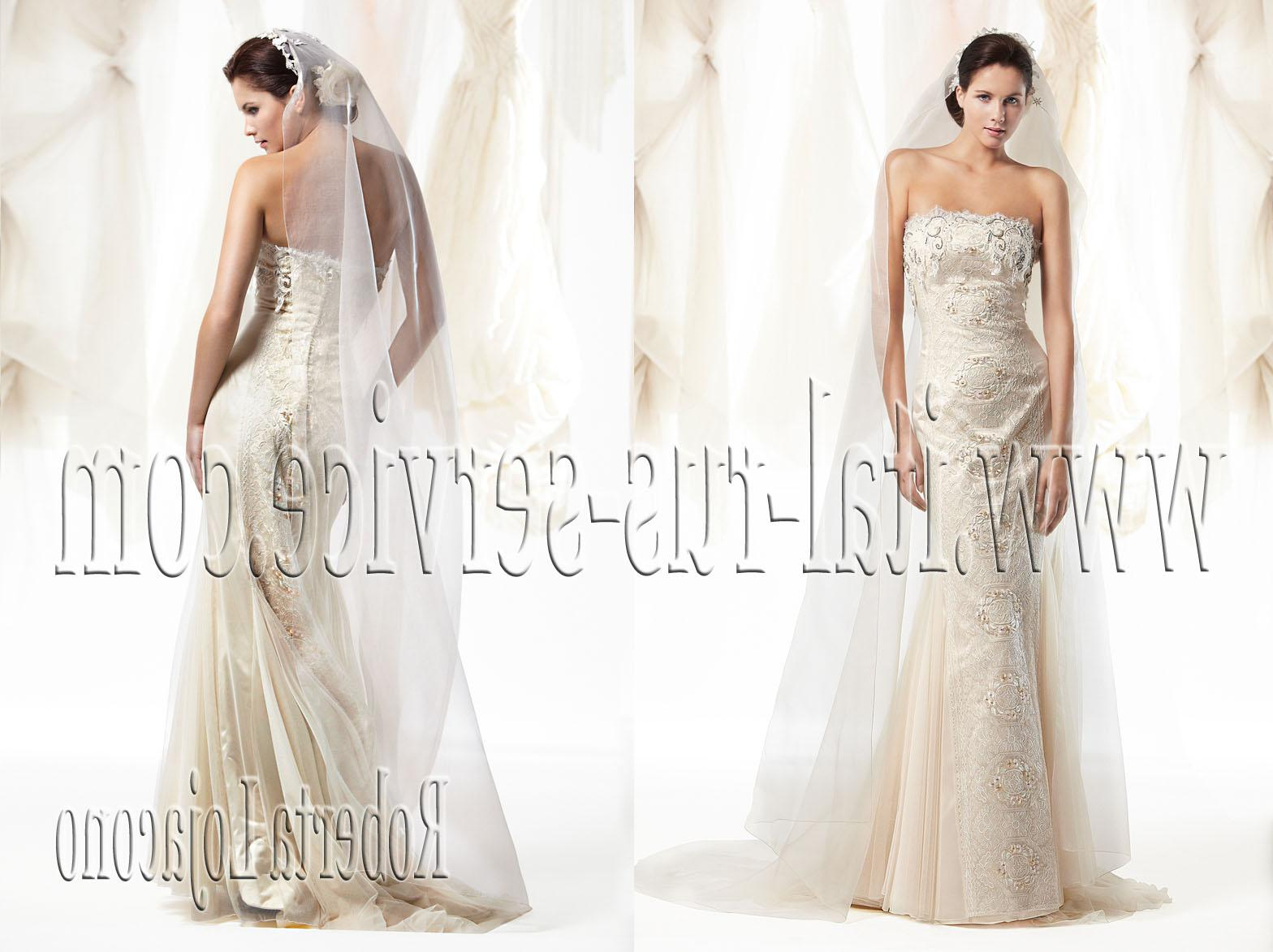 Tulle wedding dress with a