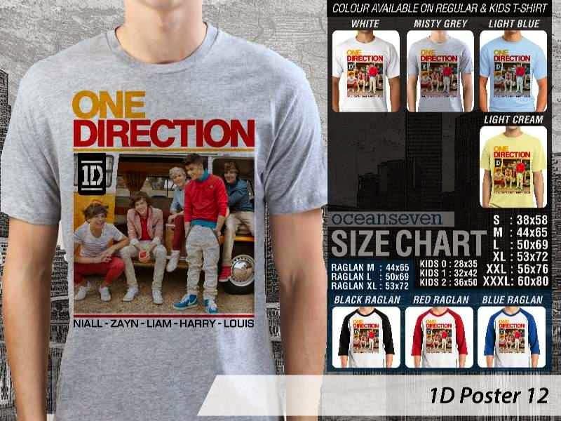 Jual kaos 1D One Direction 12 Musik Boy Band
