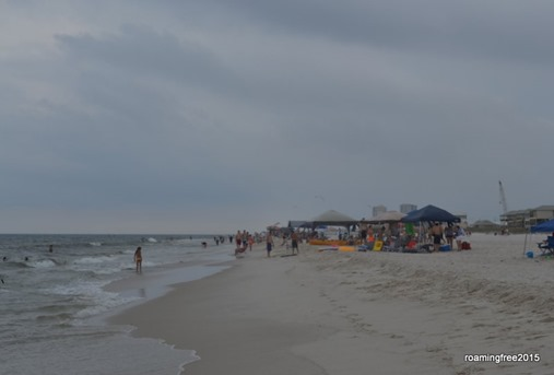Cloudy morning, but still busy at the beach