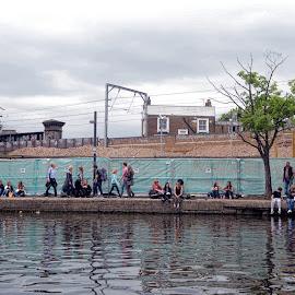 camden by Kathleen Devai - City,  Street & Park  Street Scenes ( water, market, london, buildings, people, canal )