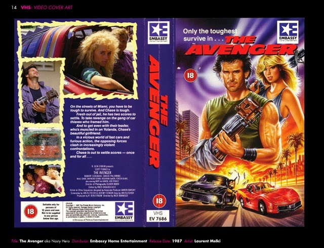 VHS Video Cover Art 1980s to Early 1990s Avenger