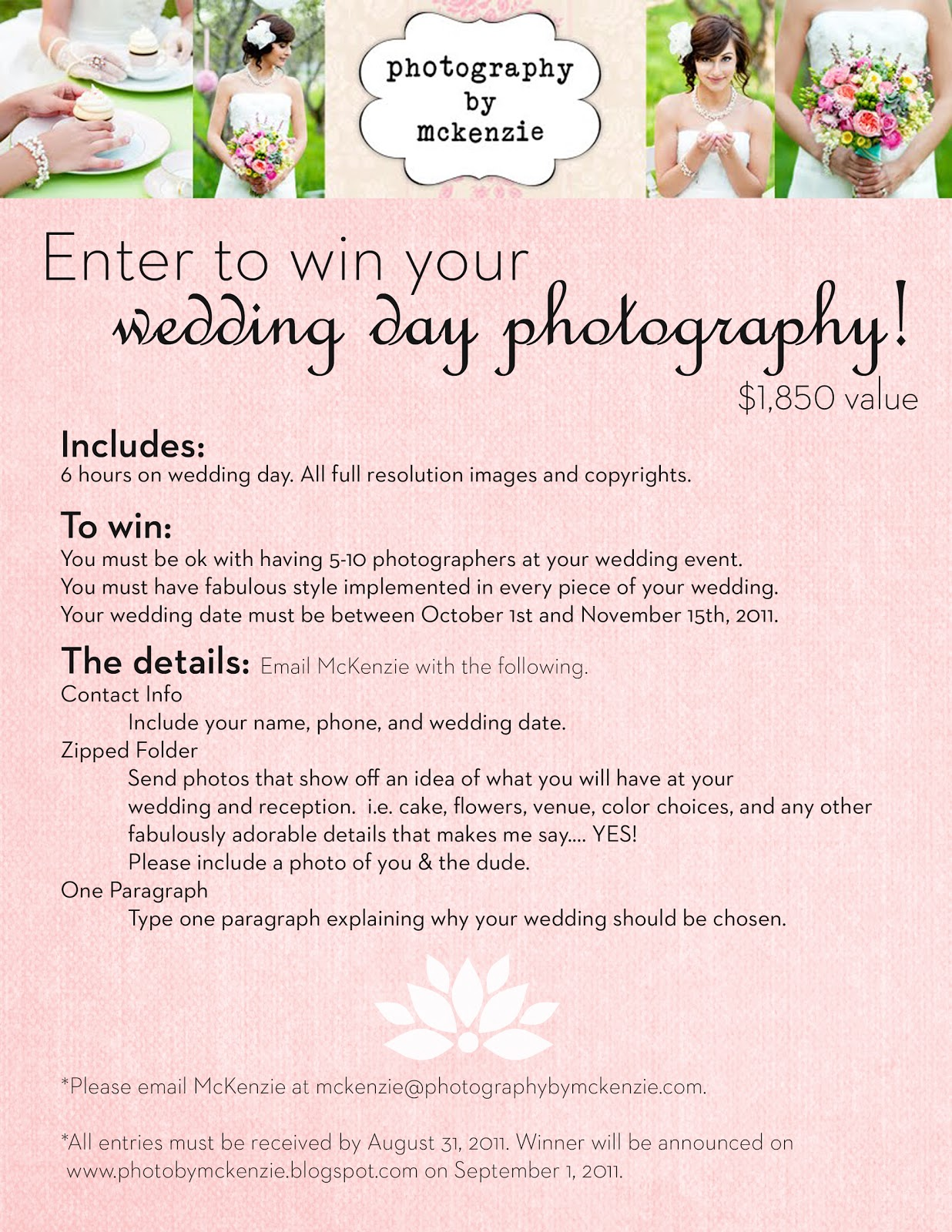 FREE wedding day photography?