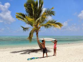 Beach fun on Aitutaki