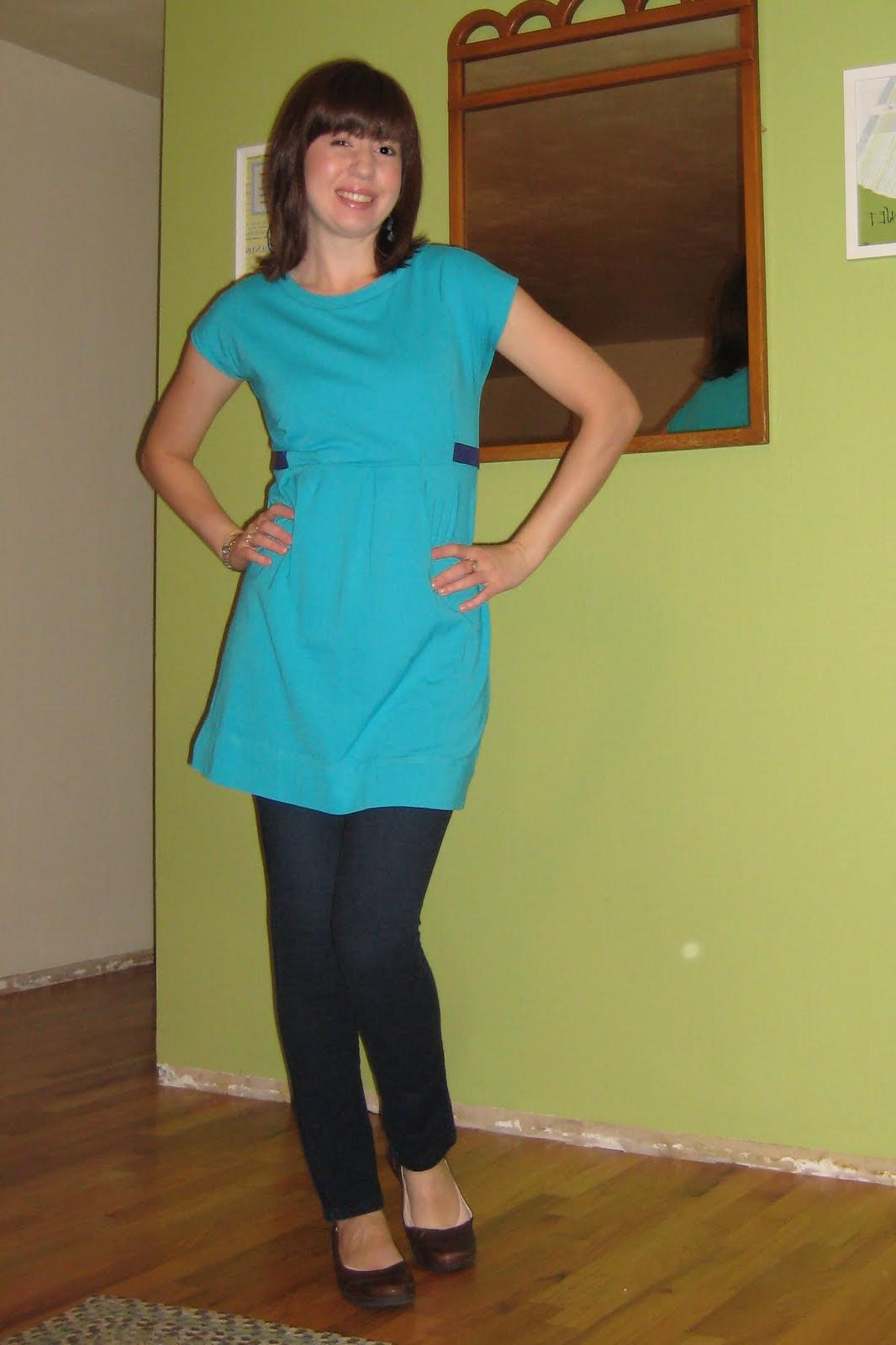 Outfit Post: Aqua and Navy