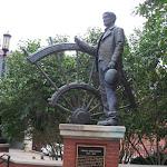 Statue of Thomas Ryman the founder of the Ryman Auditorium in Nashville TN 09042011