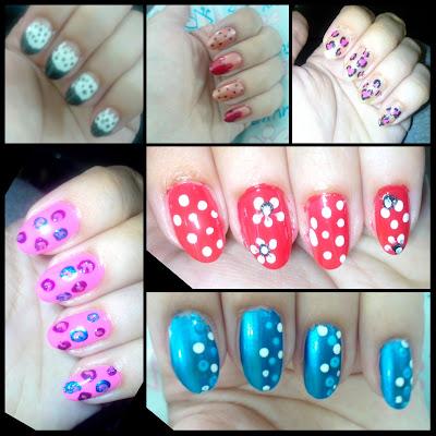 nail art, nail colors, leapard, dotted nail arts
