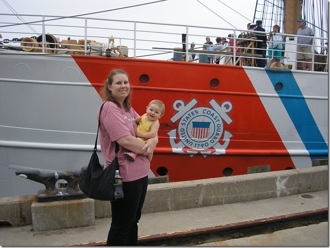 Kaitlyn (8 months) and Mommy by  U.S. Coast Guard Ship EAGLE