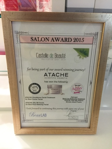 Castelle de Beauté Atache Hydrating Facial Treatment Review Lunarrive Singapore Lifestyle Blog