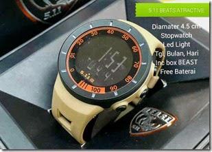 Jual jam tangan kw keren  BEAST Atractive Rubber Brown