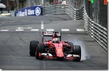 Vettel con la Ferrari a Montecarlo