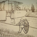 van gogh sketches in Amsterdam, Noord Holland, Netherlands