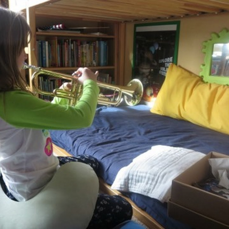 """Setting Up a Musical Instrument Practice """"Station"""""""