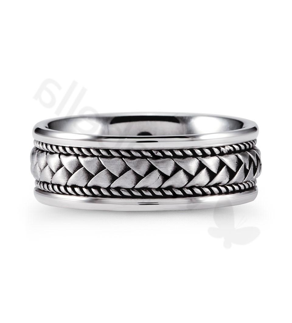 select this ring for your wedding. This gorgeous 14k white gold band has