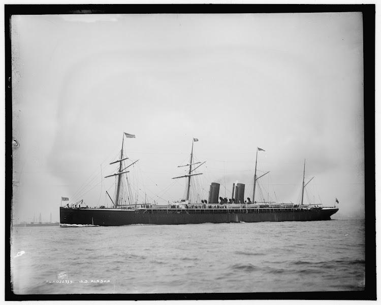 Guion Line. Vapor ALASKA. Foto John S. Johnston. Detroit Publisihng Co..tif