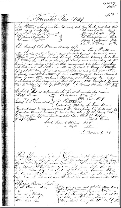 Robert Irwin vs James A.I. Lowes and other 1849  Warren County, Ohio 13