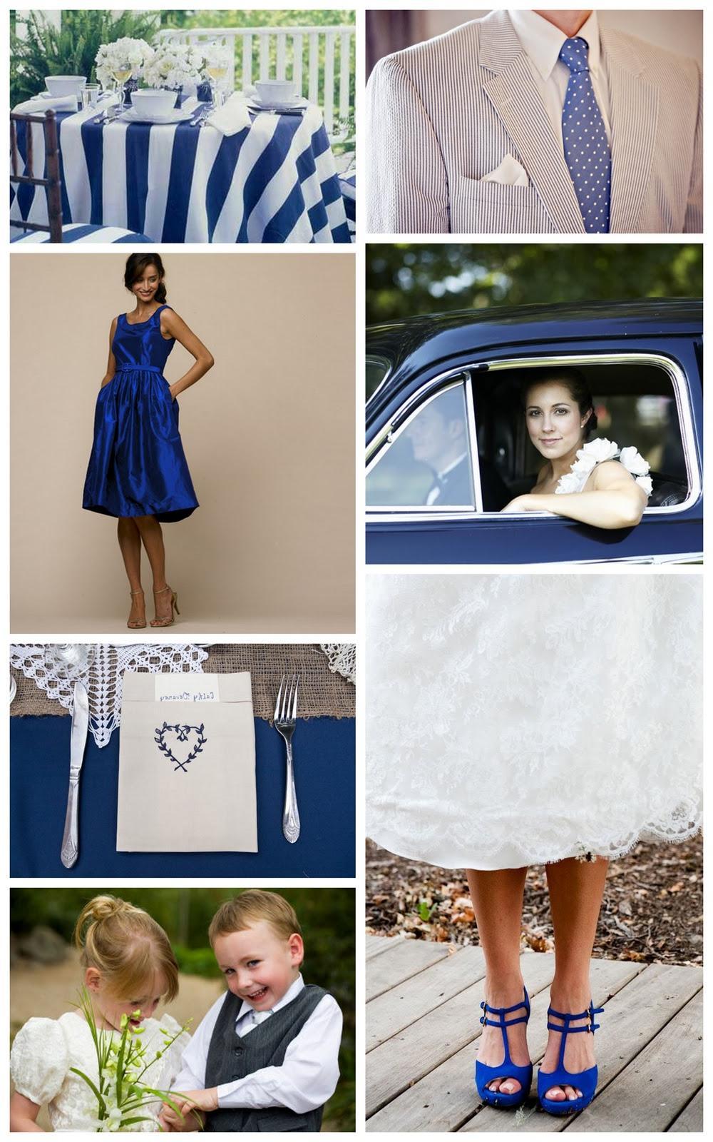 blues wedding table settings