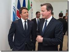 Matteo Renzi e David Cameron