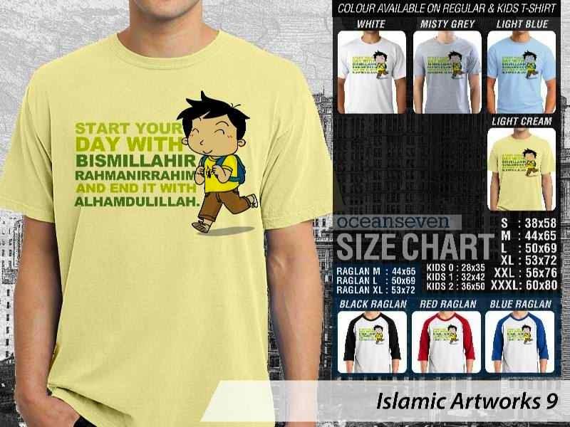KAOS Islam Muslim Start your day with bismillahirrahmanirrahim and end it with alhamdulillah. Islamic Artworks 9 distro ocean seven